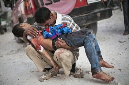 Suriyada hava hücumu zamanı 8 nəfər mülki vətəndaş həlak olub