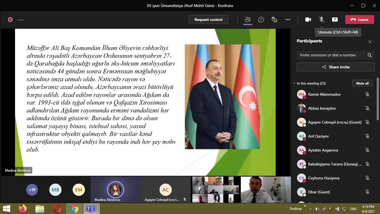 Azərbaycan Dövlət Aqrar Universitetində elmi-praktik konfrans keçirilib