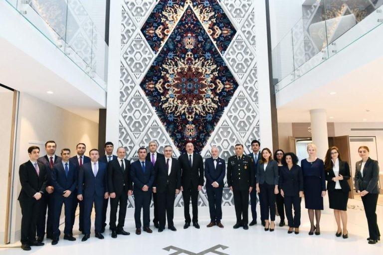 İlhamƏliyev Azərbaycanın Belçikadakı səfirliyinin yeni binasının açılışında