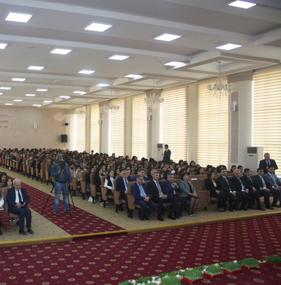 BSU-da Dövlət Təhlükəsizlik Xidmətinin əməkdaşları ilə görüş keçirilib