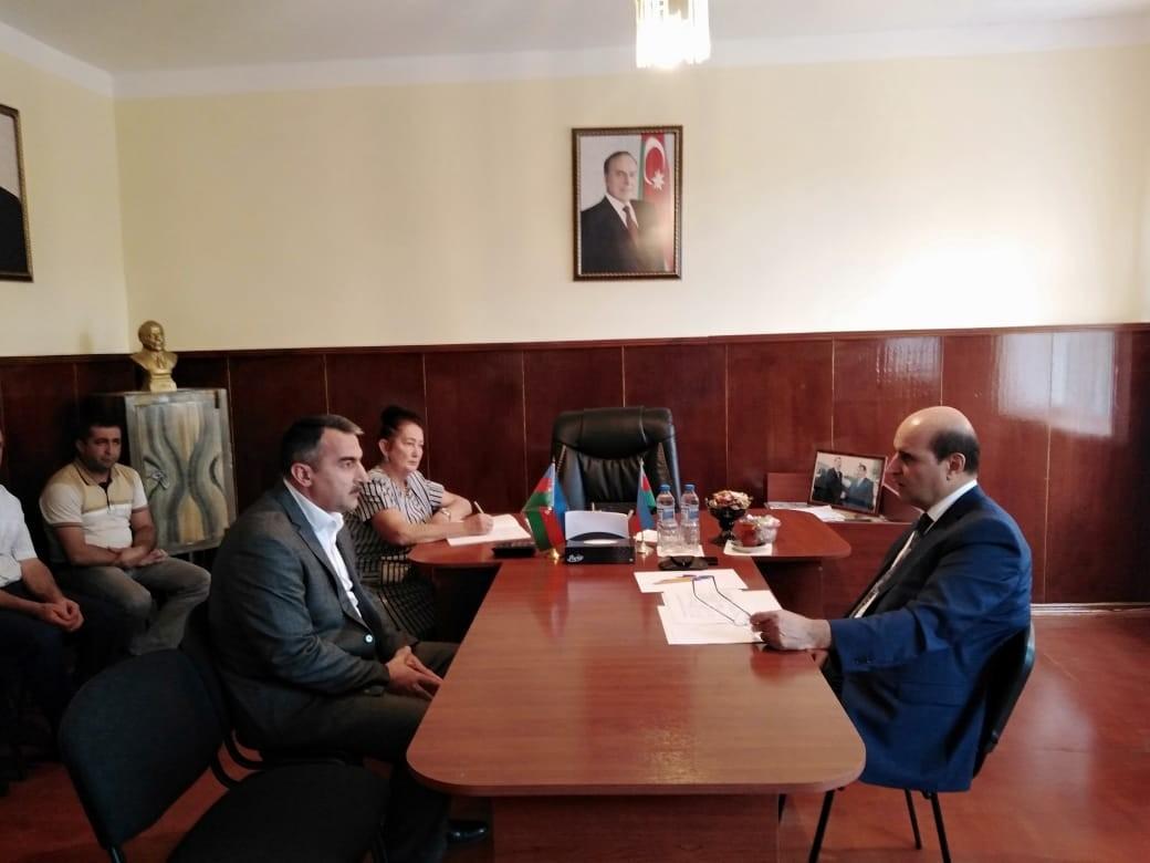 Azərbaycan Meliorasiya və Su Təsərrüfatı Açıq Səhmdar Cəmiyyətinin sədr müavinləri qəbullar keçiriblər