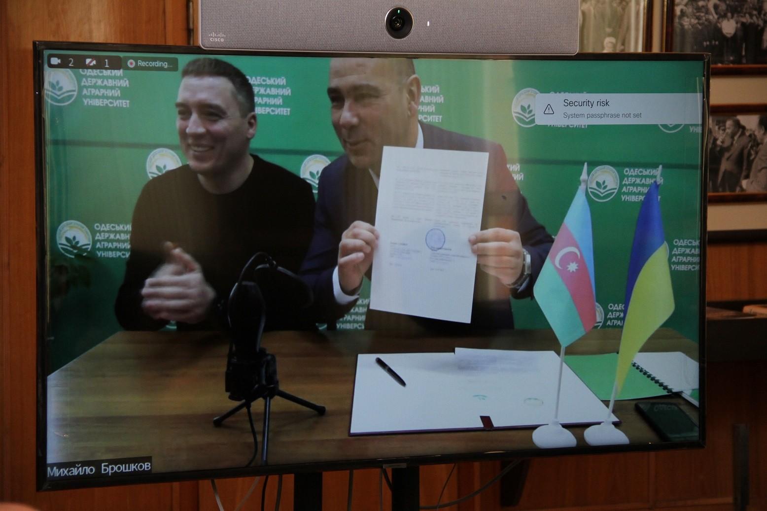Ukraynanın Infrastruktur naziri Aqrar Universitetə səfər edib