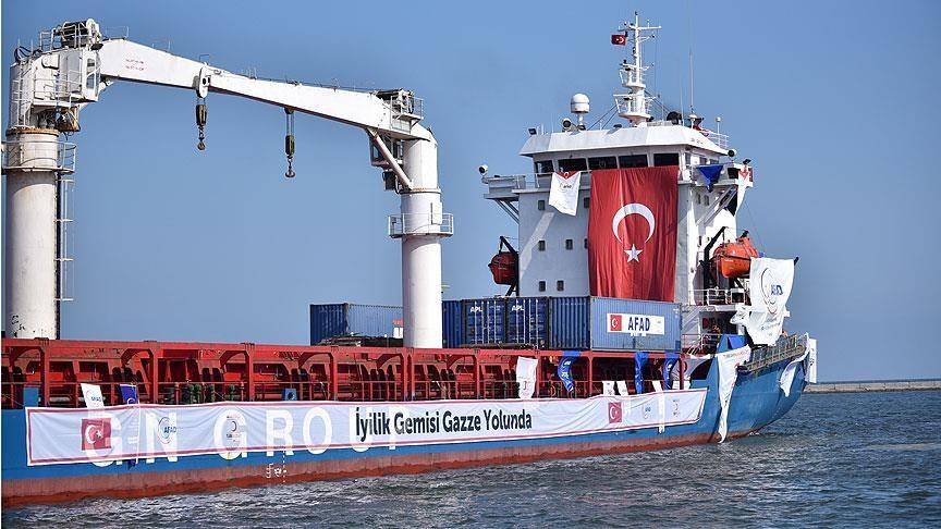 Türkiyə gəmisi Dohada: Yüklər endirilir