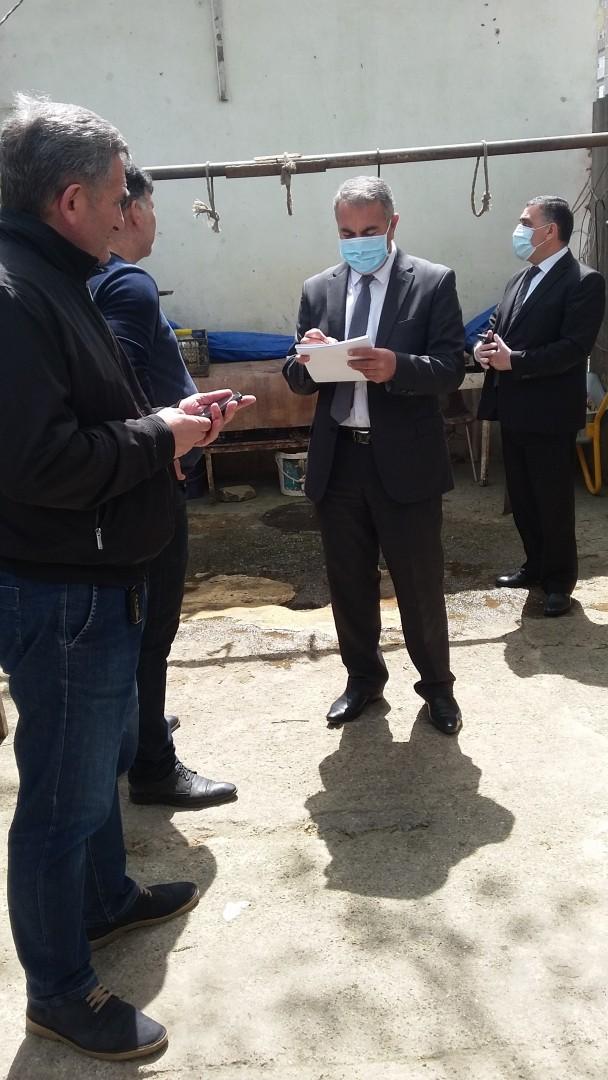 Nizami rayonu ərazisində heyvan kəsimi və satışı məntəqələrində maarifləndirici monitorinqlər aparılıb