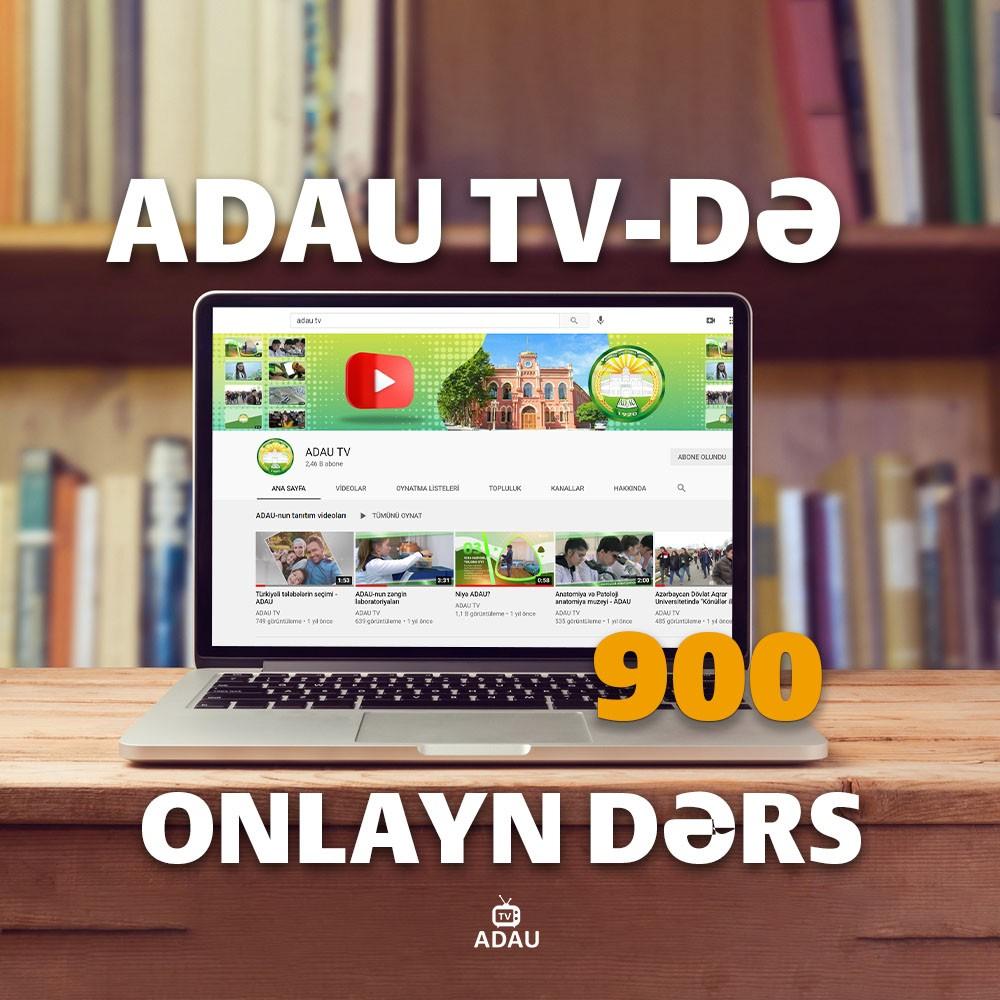 ADAU TV-də 900-cü onlayn dərs keçirilib