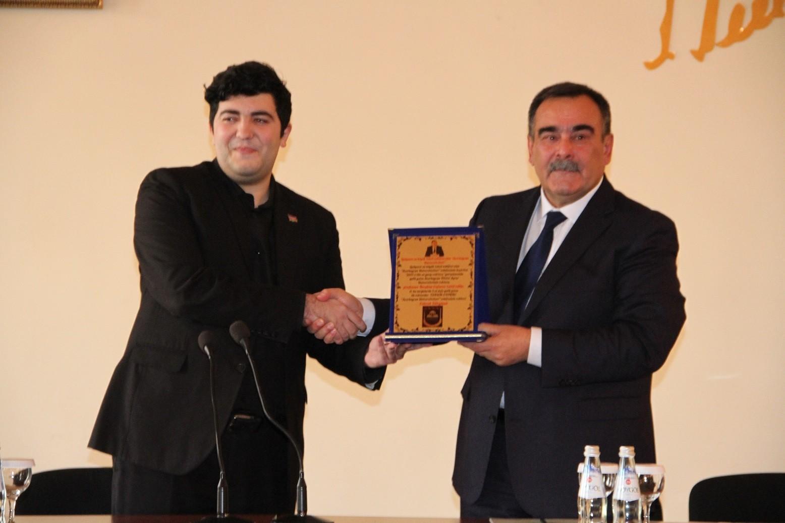 İbrahim Cəfərova 2017-ci ilin diplomu təqdim edildi