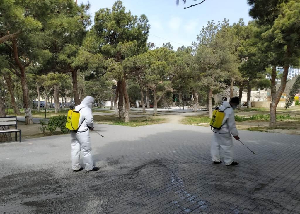 Nizami rayonu ərazisində dezinfeksiya işləri davam etdirilir-
