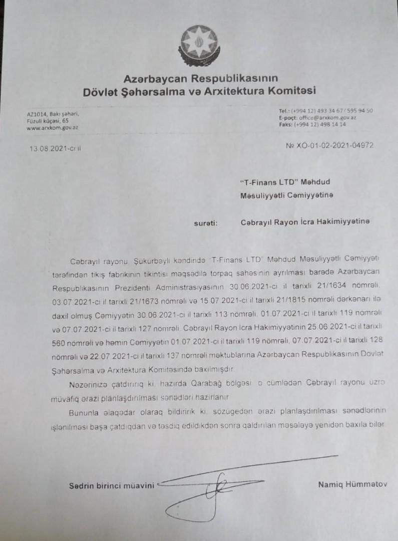 """""""T-FİNANS LTD"""" MMC keçirəcəyi tədbirin tarixini dəyişdi-"""