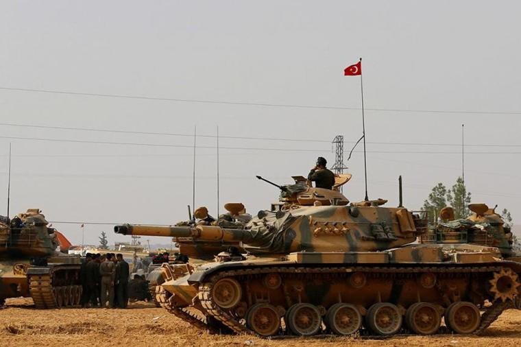 Türk tankları Afrinə girdi - Əməliyyat