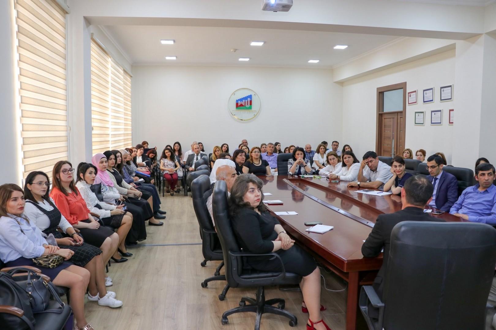 Qərbi Kaspi Universitetində innovativ təhsil konfransı keçirilib