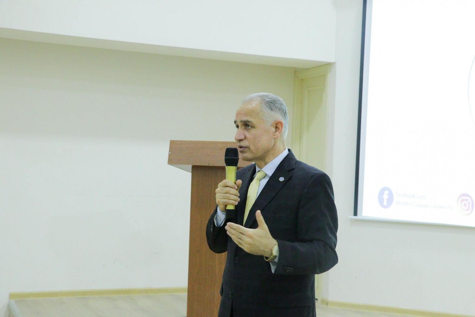 BMT nümayəndəsi Qərbi Kaspi Universitetində-